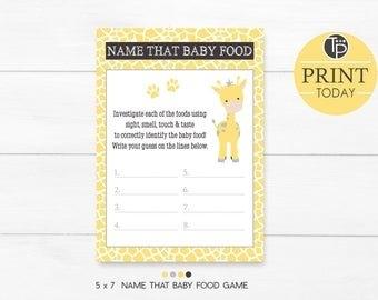 Giraffe Baby Name | Etsy for Guess The Redicitos Tempalte To Print