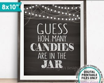 Guess The Candy Jar | Etsy with Guess The Redicitos Tempalte To Print