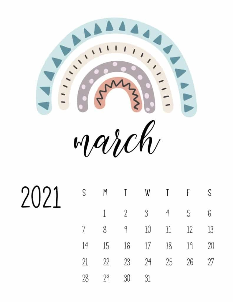 Happy Rainbows 2021 Calendar - World Of Printables regarding What Calendar Year Matches 2021