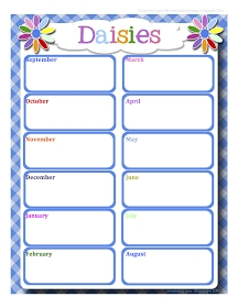 Here Is A Full Year Free Daisies Calendar In Word Format That You Can Edit! Click Here To D inside 11X17 Activity Calendar Layot