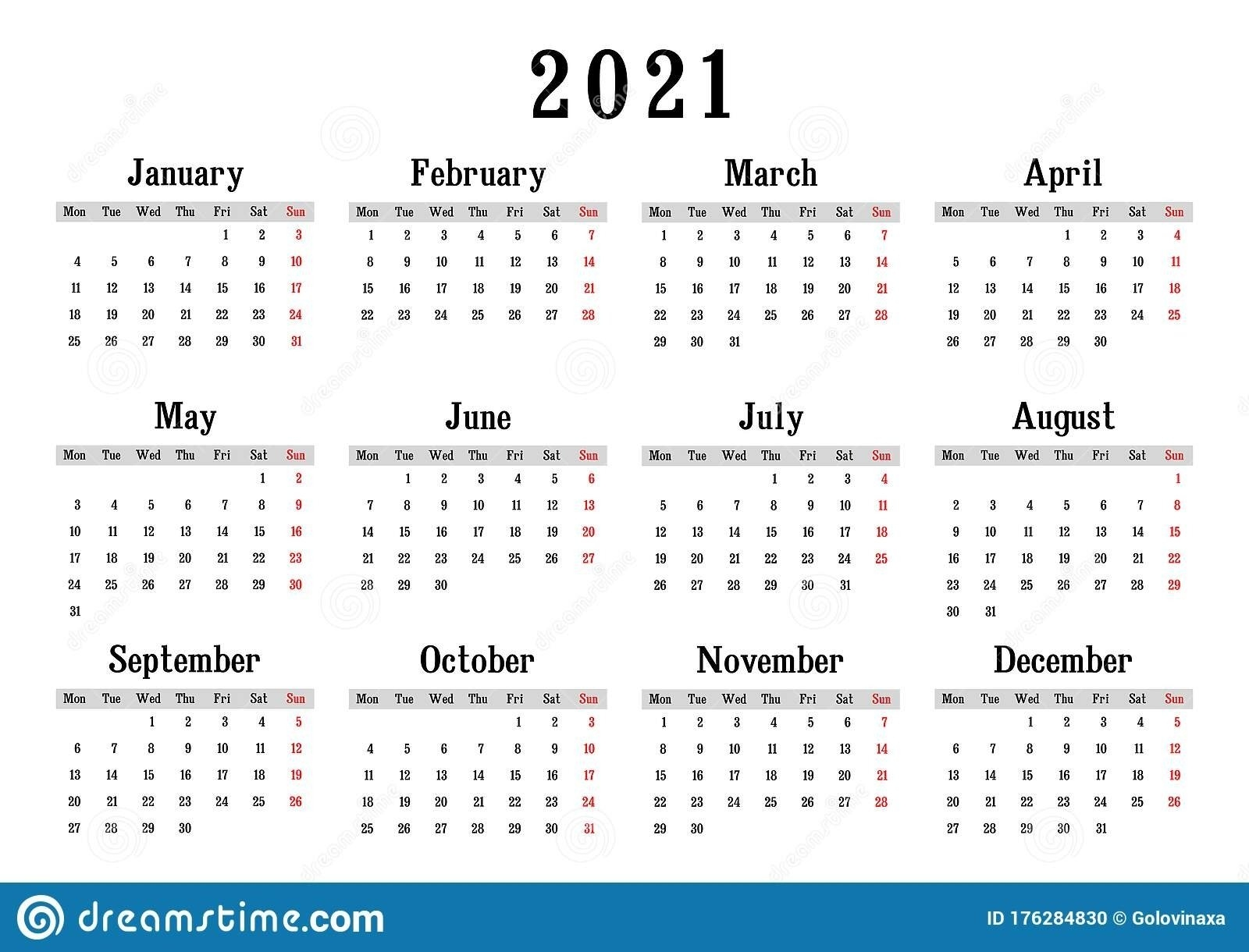 How To Do A Calender With It Startingon Ondya | Ten Free Printable Calendar 2020-2021 within 2021 Monthly Calendar With Lines Printable Image