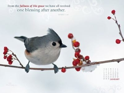Jan 2012 - John 1:16 Desktop Calendar- Free January Wallpaper throughout Christian Wallpaper Calendars