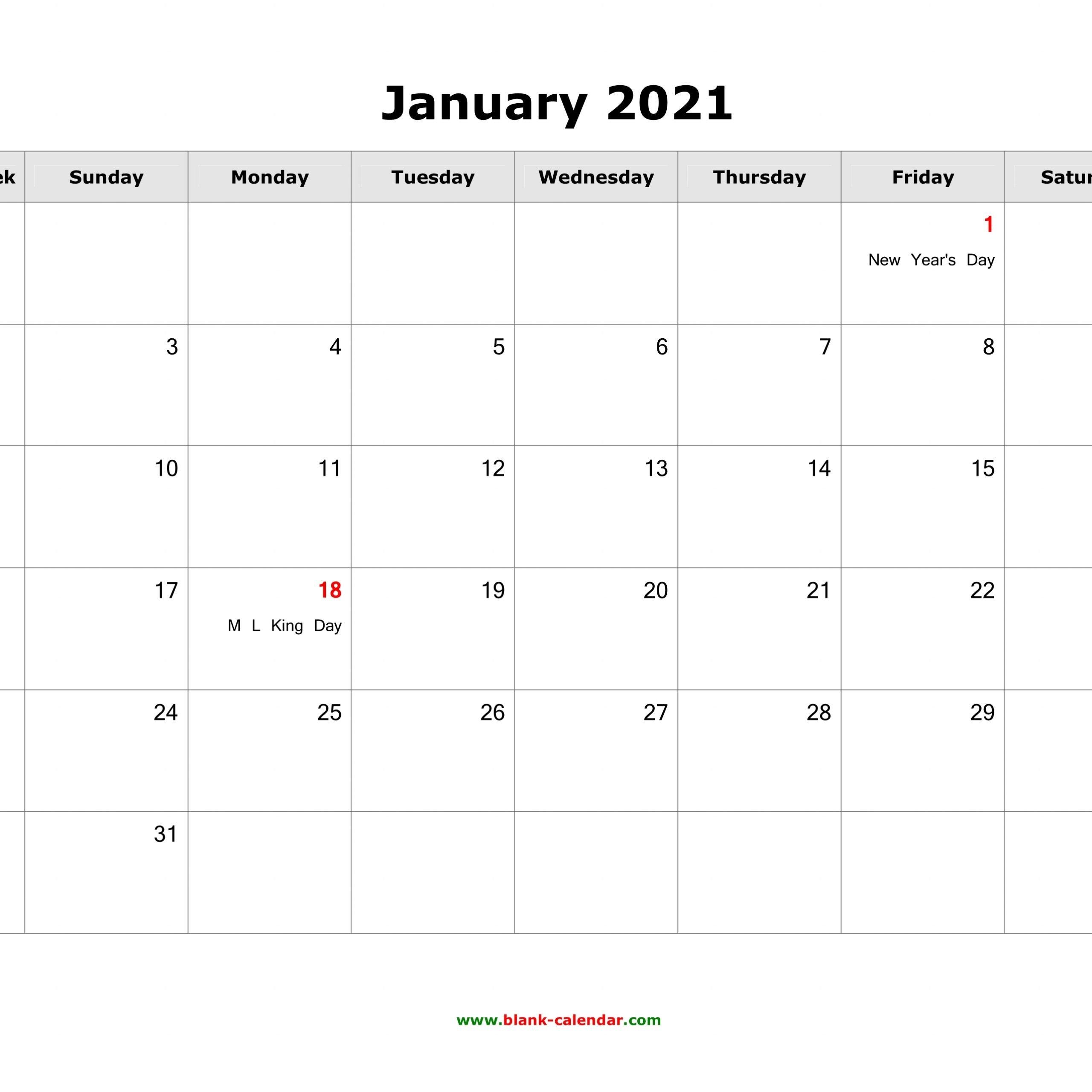 Jan 2021 Calendar Template Word   Free Printable Calendar throughout 2021 Julian Calendar Pdf Image