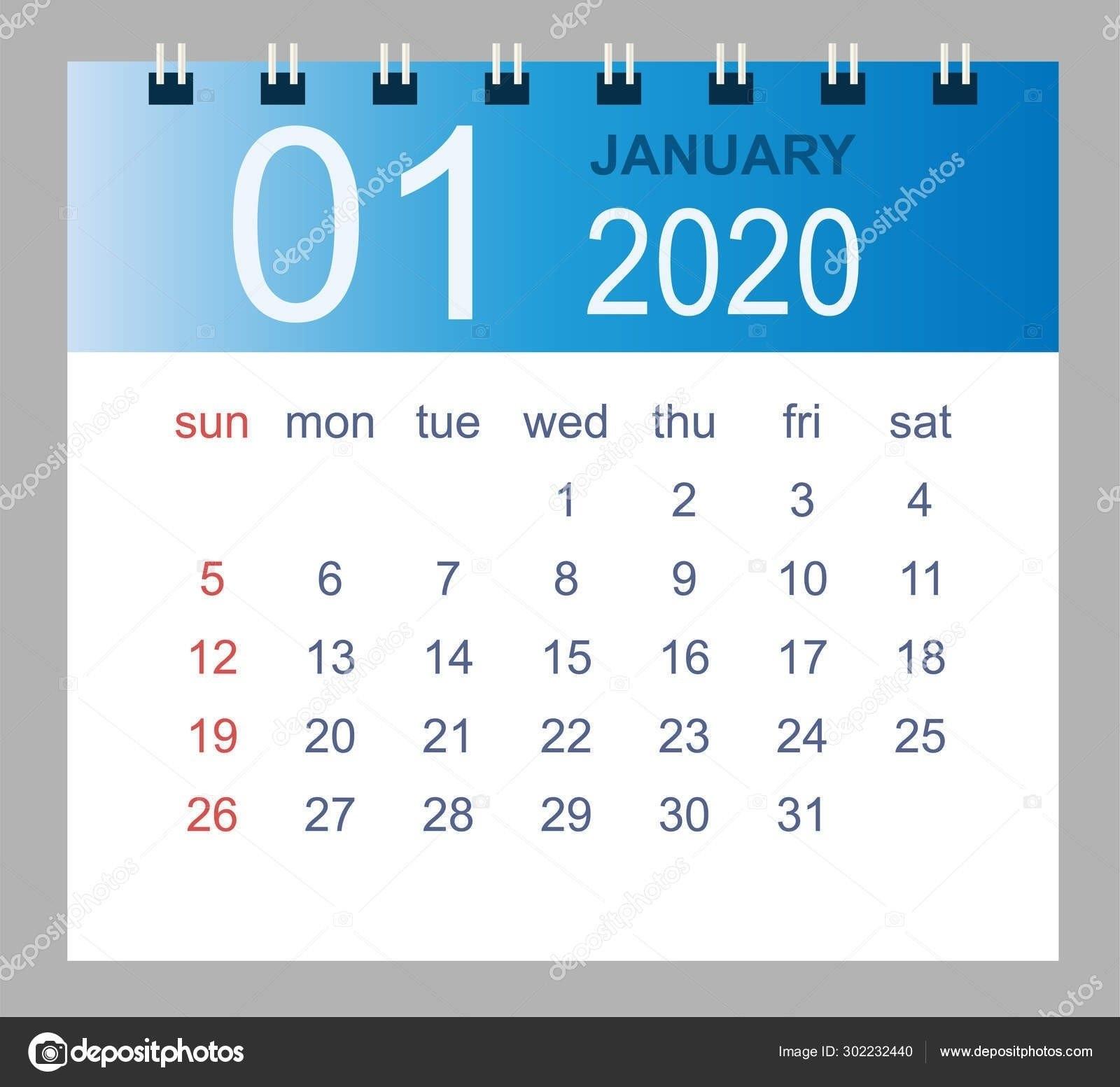 January 2020 Style 3 Calendar | Calendar Template Printable for Broadcast Calendar 2019 2021