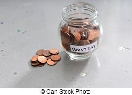 Jar Of Pennies. Glass Jar Of Pennies On A White Background.   Canstock regarding Save A Penny A Day Graphics
