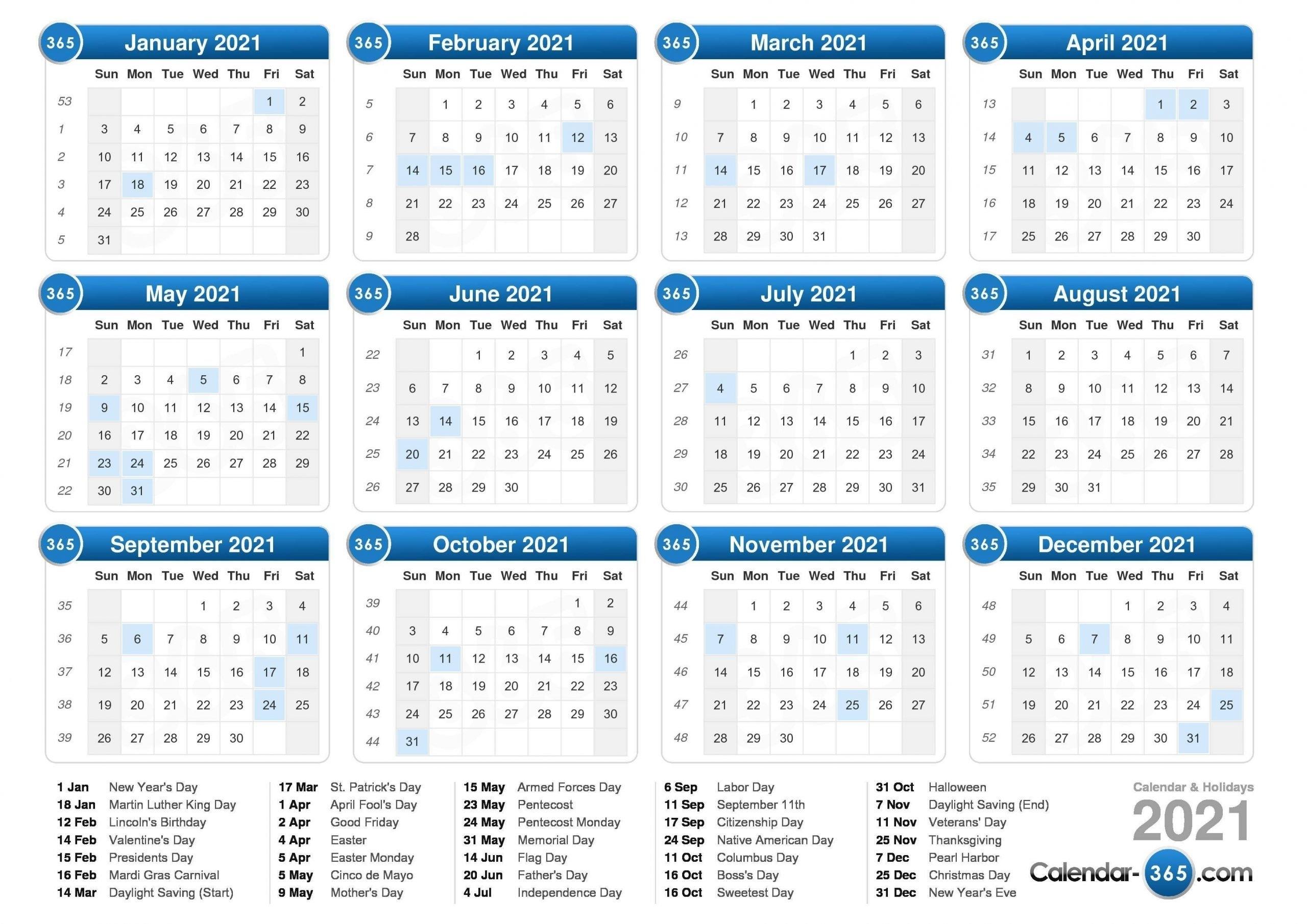 Julien Code 2021 - Template Calendar Design for Julian Calendar 2021 Printable Free
