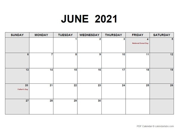 June 2021 Calendar | Calendarlabs throughout June Editable Calendar 2021 Graphics