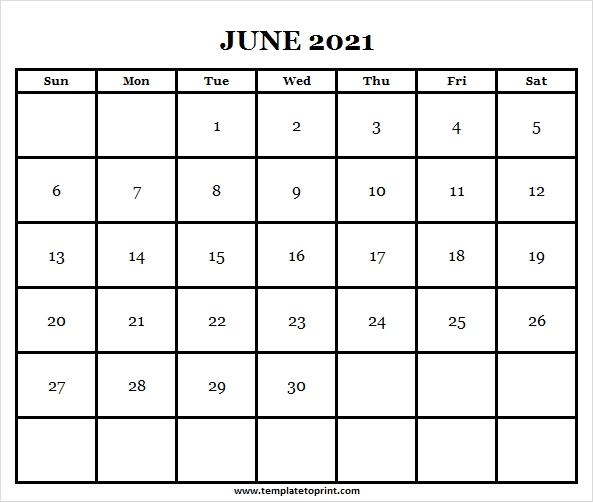 June 2021 Calendar Image | Print 2021 Calendar Template inside June Editable Calendar 2021