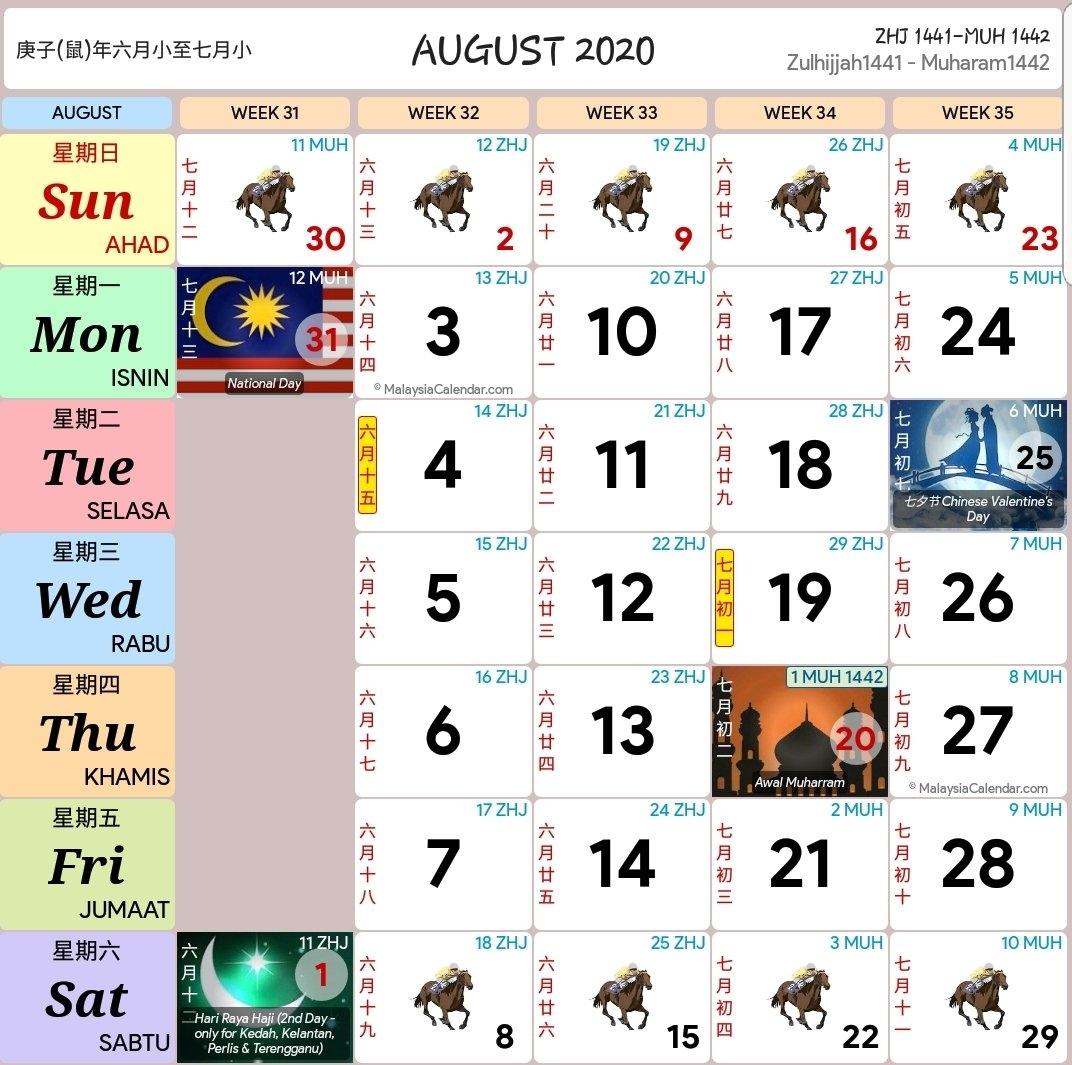 Kalendar 2020 Dan Cuti Sekolah 2020 - Rancang Percutian Anda! - Layanlah!!! | Berita Terkini with Image Malaysia 2021 Calendar Kuda Image