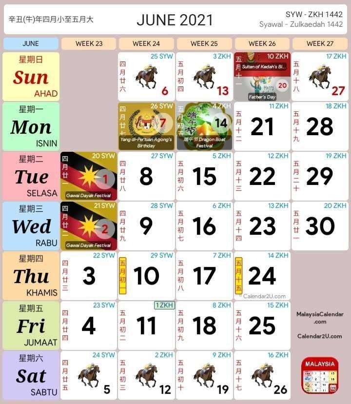 Kalendar 2021 Cuti Sekolah Malaysia (Kalendar Kuda Pdf) intended for Kalender Kuda 2021 Malaysia