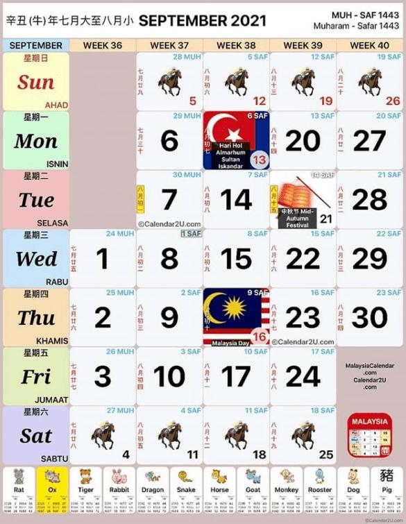 Kalendar 2021 Cuti Umum Malaysia Dan Cuti Sekolah (Kalendar Kuda) with regard to Kalendar 2021 Malaysia Cuti Sekolah