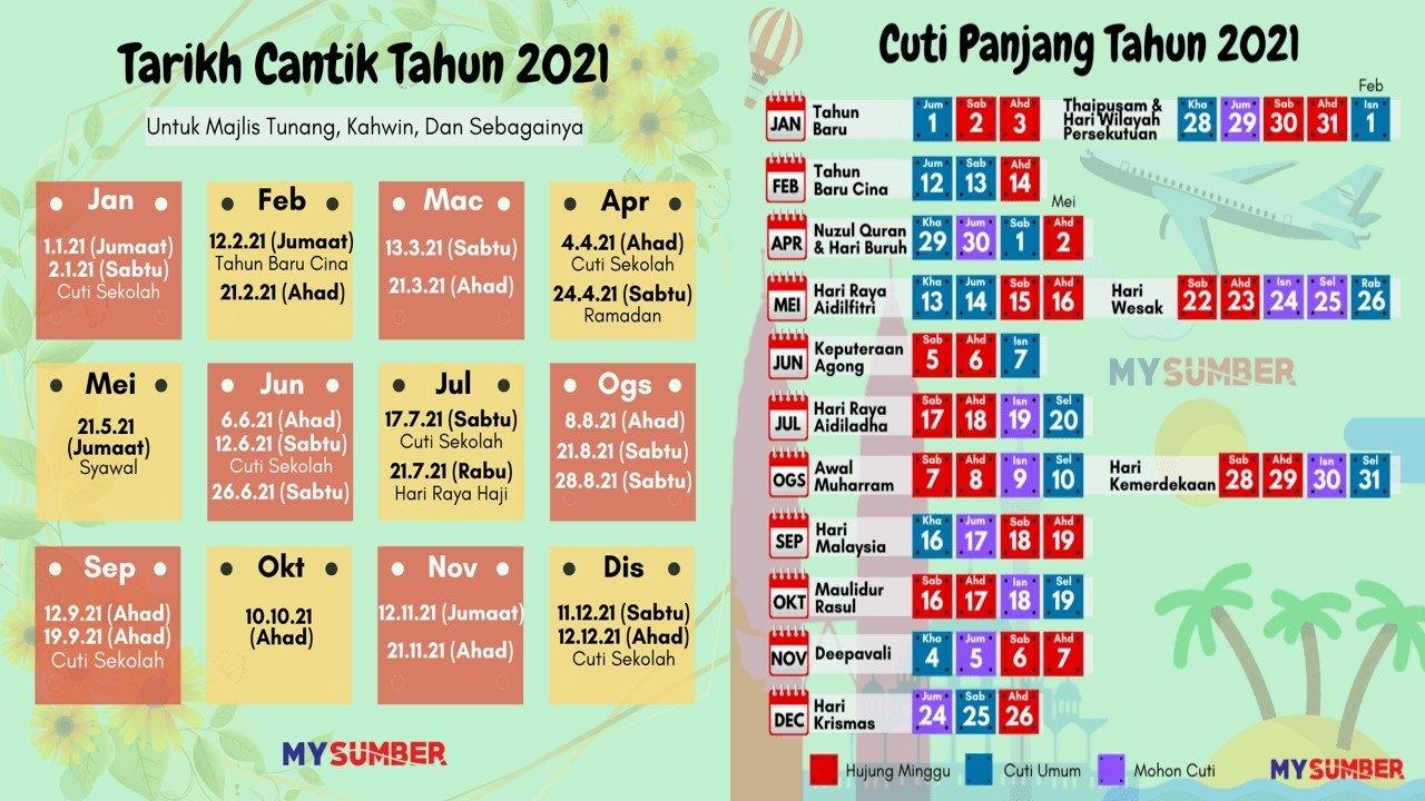 Kalendar Cuti Umum Tahun 2021 Malaysia Dan Cuti Persekolahan-Lengkap in Kalendar Kuda 2021 Cuti Sekolah