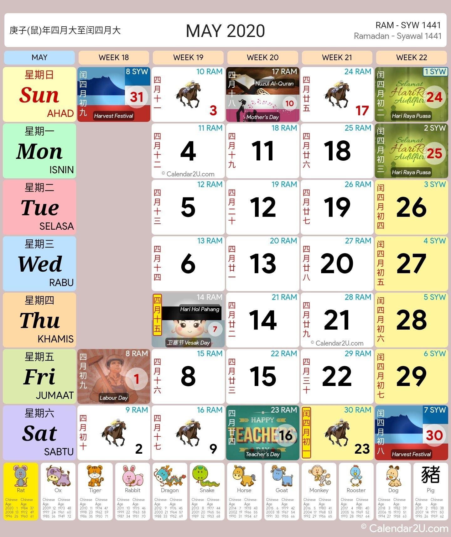 Kalendar Kuda May 2020 | Calendar For Planning throughout Template Kalendar 2021 Malaysia Image