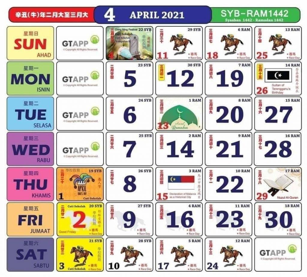 Kalendar 'Kuda' Tahun 2021 Dah Keluar! Jom Rancang Untuk Bercuti - Murai My with Cuti Umum Calendar Kuda 2021