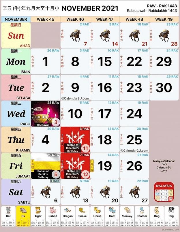 Kalendar Senarai Cuti Umum 2021 Dan Cuti Sekolah Malaysia   Nadz.my with Kalendar 2021 Cuti Malaysia