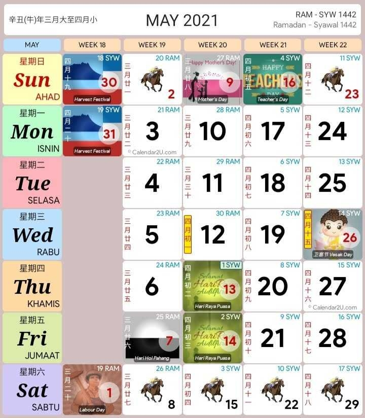 Kalender Islam 2021 Malaysia Pdf with regard to Calendar 2021 Malaysia Image Malaysia Photo
