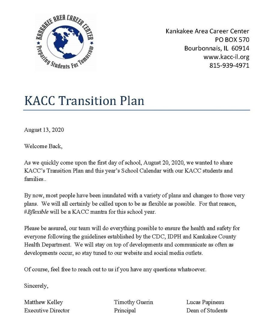 Kankakee Area Career Center - Kacc Transition Plan in 30 Day Med Expiration Calendar 2021 Graphics