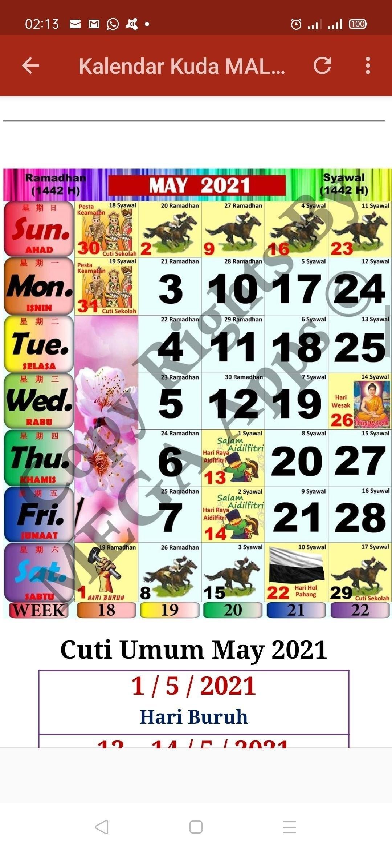 Kuda 2021 Calender | Month Calendar Printable pertaining to Kalendar Malaysia 2021 Tds Printable