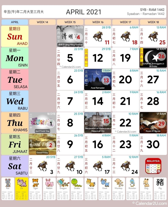 Kuda 2021 Calender   Month Calendar Printable with Kalendar 2021 Cuti Malaysia