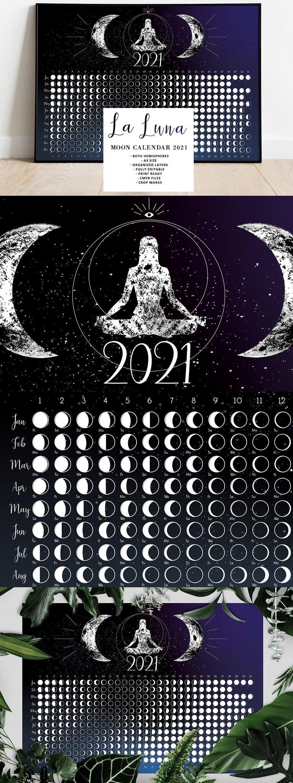 La Luna Moon Calendar 2021 | Moon Calendar, Luna Moon, Moon Phase Calendar inside Full Moon Calendar 2021 Printable