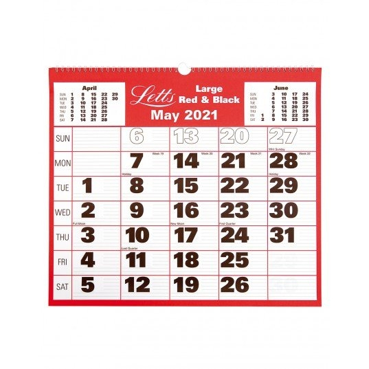 Large Monthly Wall Calendar 2021   Letts Of London intended for Page By Page Large Wall Calendars 2021 Image