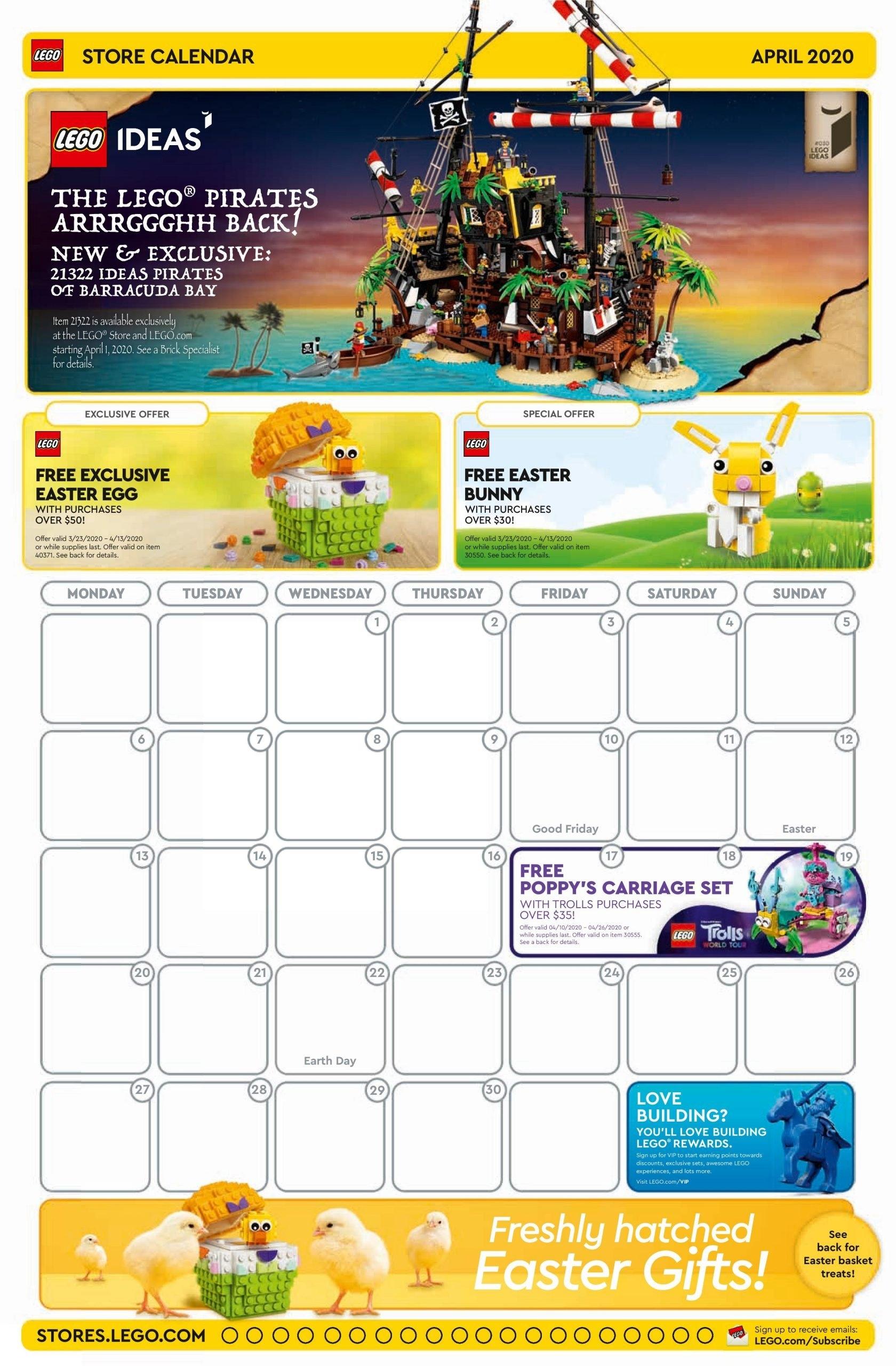 Lego Calendar April 2021 | Calendar 2021 intended for 2021 Media Broadcast Calendar Printable Photo