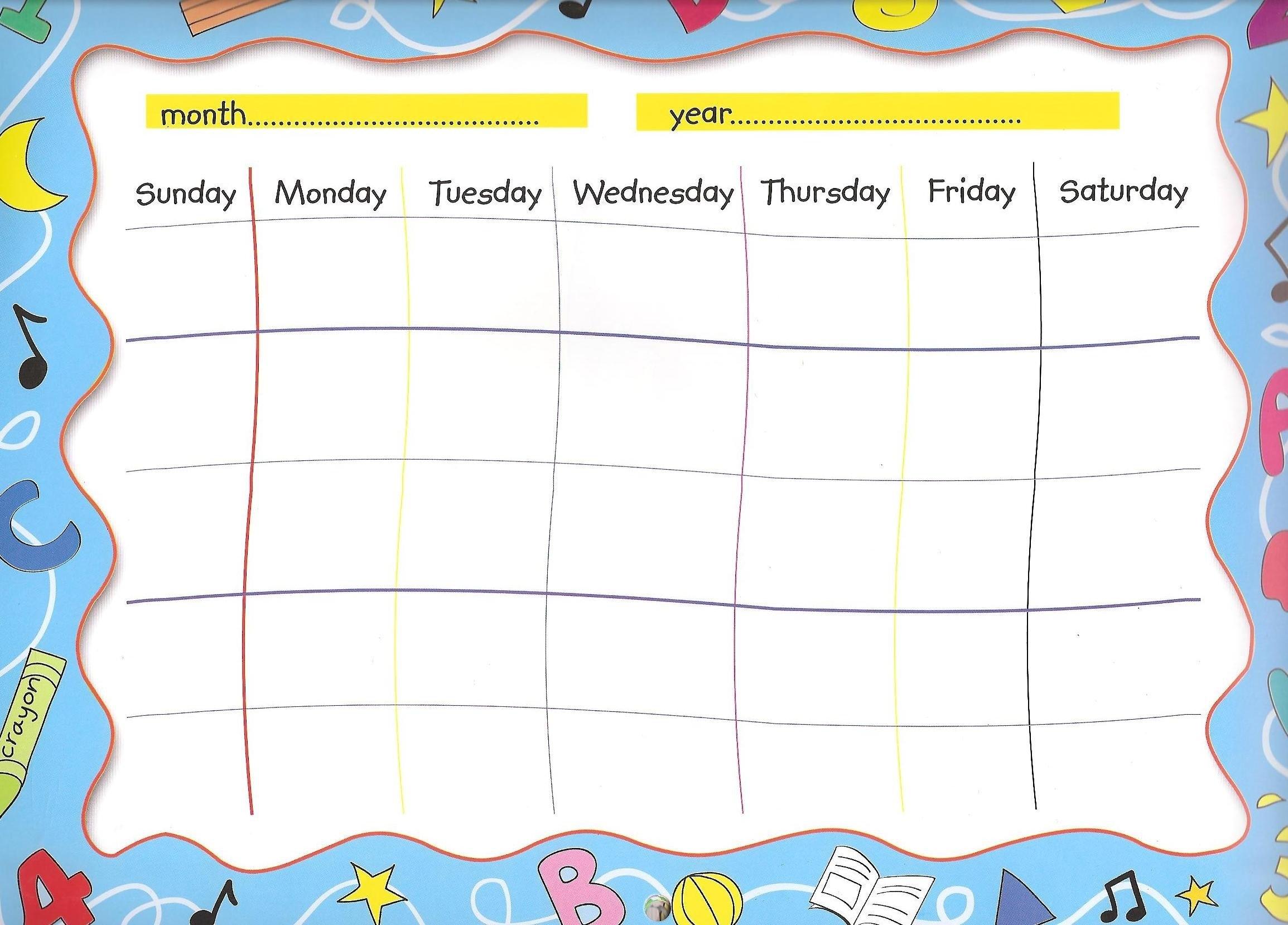 Lovely Make Your Own Calendar Free Printable | Free Printable Calendar Monthly intended for Create Your Own Calendar For Free Image