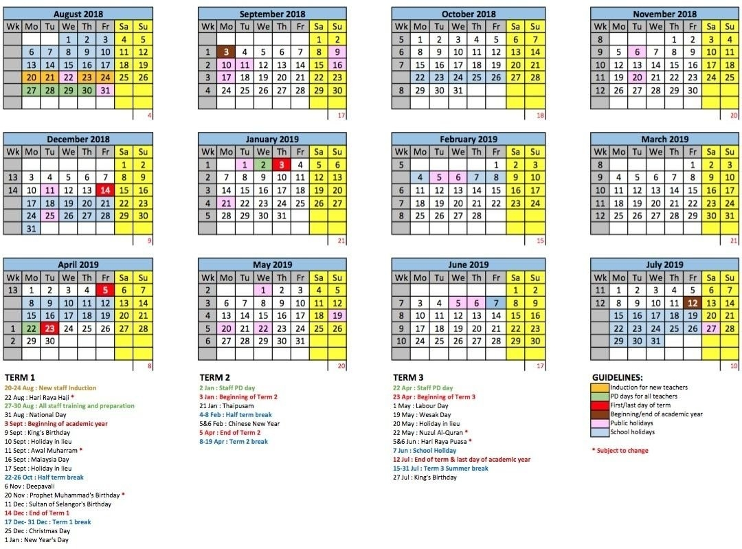 Malaysia Academic Calendar 2021 | Printable March regarding 2019-2021 Church Calendar Images