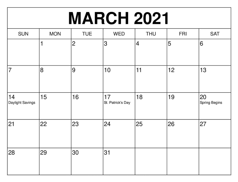 March 2021 Calendar Free Word Template - Printable Blank Calendar 2021 Pdf Template in 2021 Julian Calendar Pdf