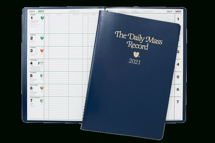 Mass Intention Records   Liturgical Calendar   2020   2021   Catholic Appointment Calendar   T in Image Of 2021 Church Calendar
