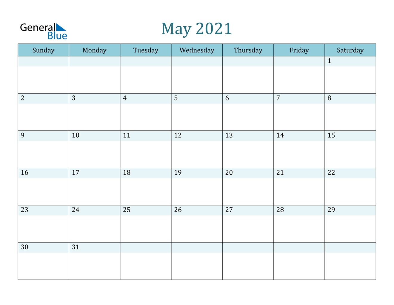 May 2021 Calendar - Pdf Word Excel intended for Excel Calendar Template 2021 Editable Graphics