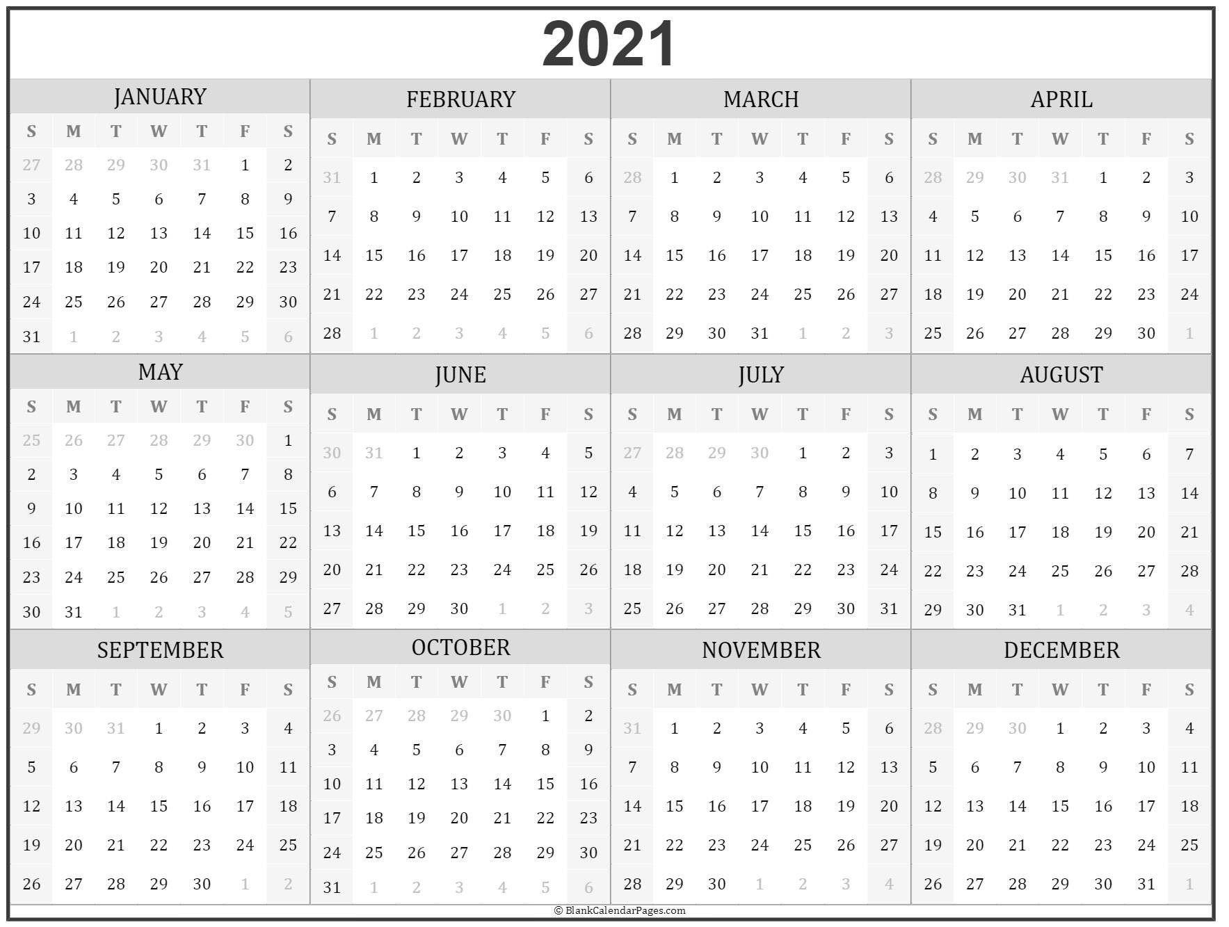 Microsoft Calendar Templates 2021 2 Page Per Month Printable | Calendar Template Printable throughout Free Printable Calendar 2021