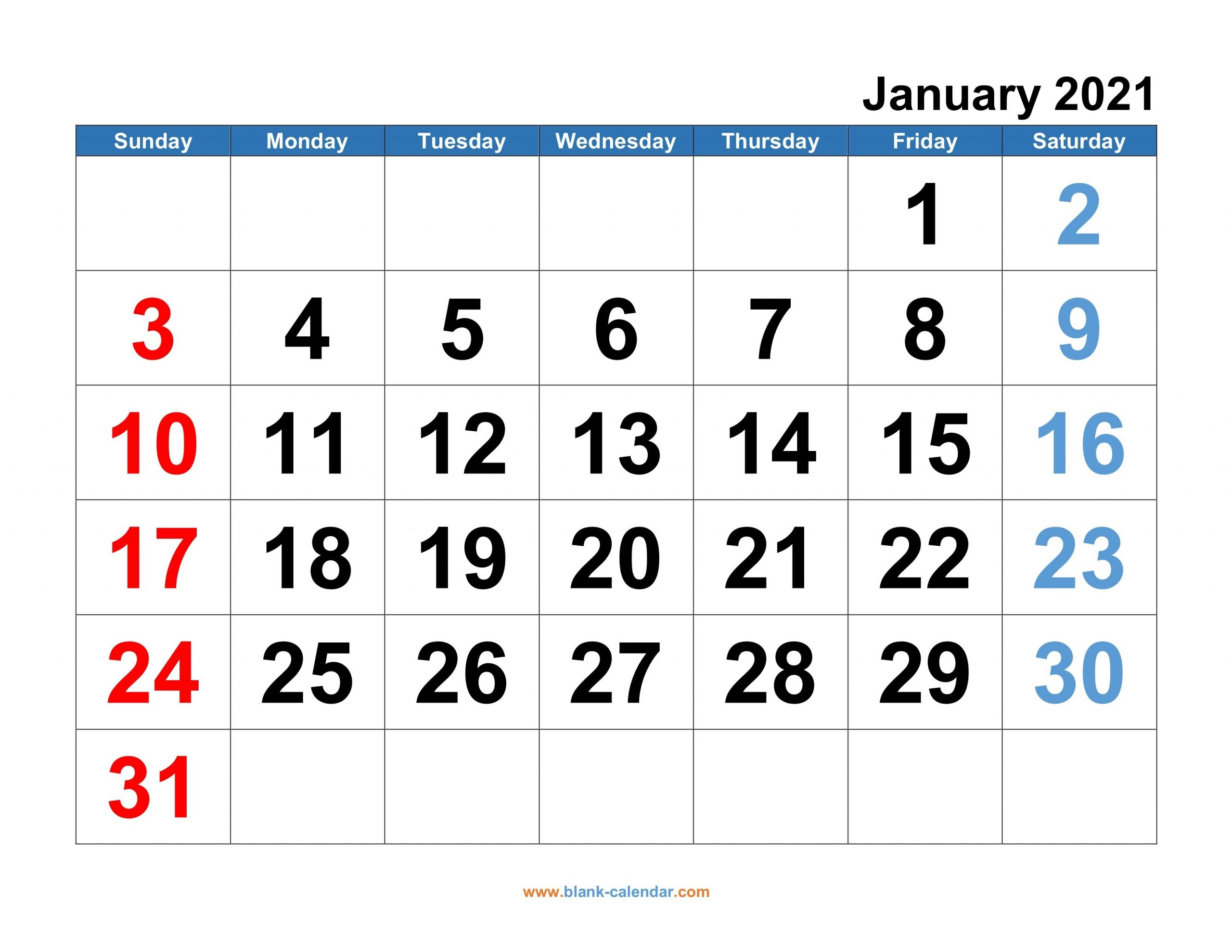 Monthly Calendar 2021   Free Download, Editable And Printable inside 2021 Calendar With Numbered Days Photo