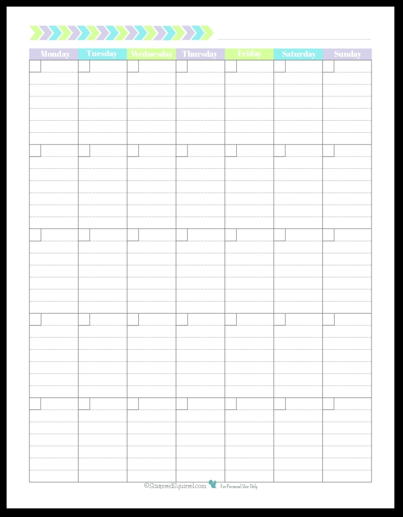 Monthly Calendar With Lined Boxes :-Free Calendar Template with Free Printable Monthly Calendar With Lines Photo
