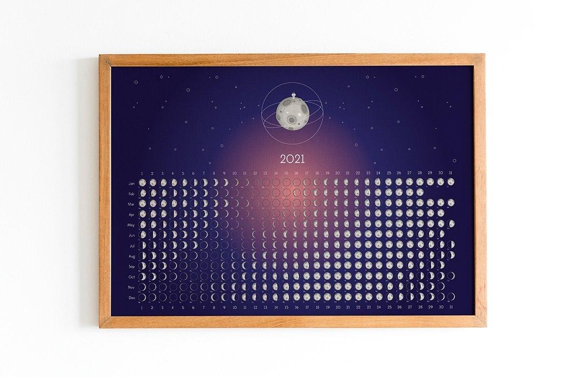 Moon Calendar 2021 (537233) | Seasonal | Design Bundles with Lunar Moon Calendar 2021 Photo