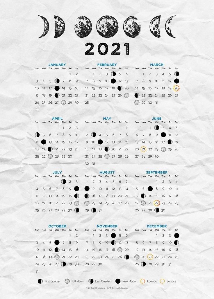 Moon Calendar 2021 (Moon Phases 2021) — Poster | Moon Calendar, Wiccan Spell Book, Moon Journal throughout Lunar Calendar 2021 Picture Healer Image