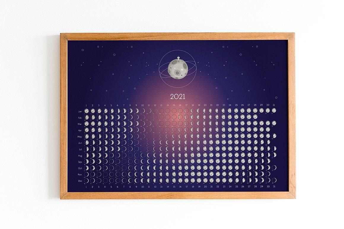 Moon Calendar 2021 with Full Moon Calendar 2021 Printable