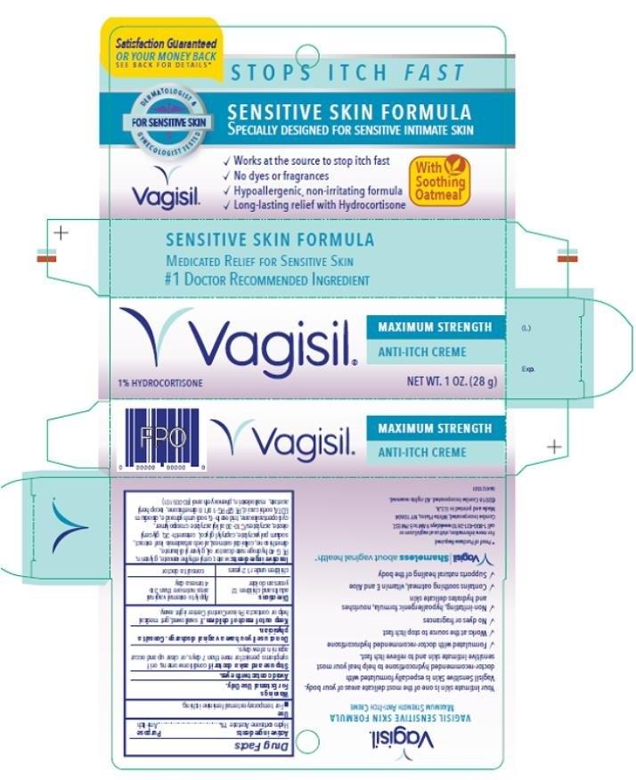 Ndc 11509-5101 Vagisil Anti-Itch Creme Maximum Strength Sensitive Skin Formula Hydrocortisone inside 28 Day Medication Expiration 2021