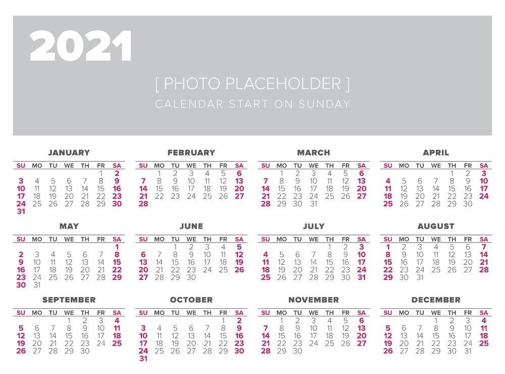 One Page 2021 Calendar Printable | Calendar 2021 inside 2021 Calendar Printable One Page Photo