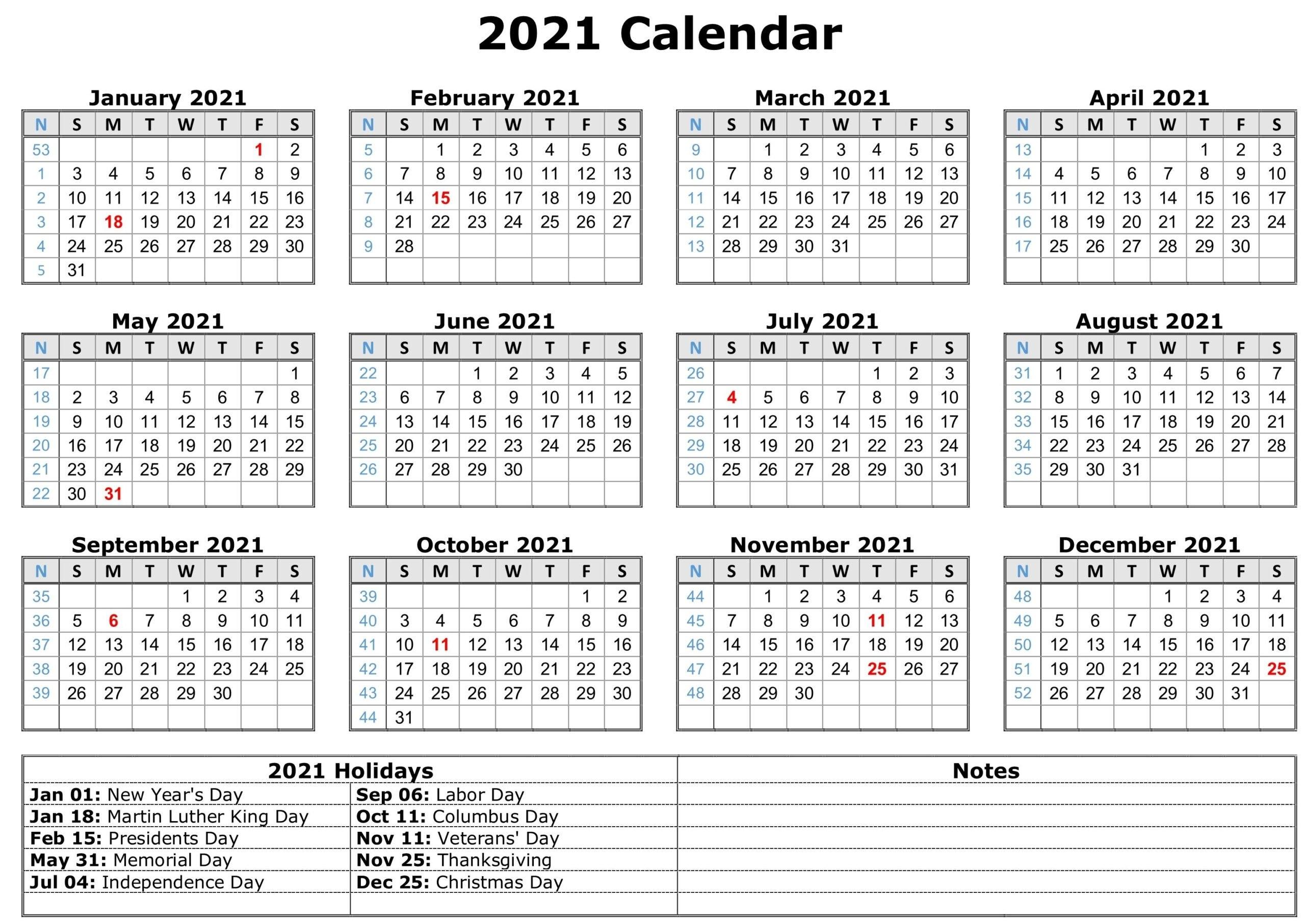 Online Free Printable Calendar 2021 | Calendar Printables Free Blank pertaining to Free Printable Calendars 2021 Monthly