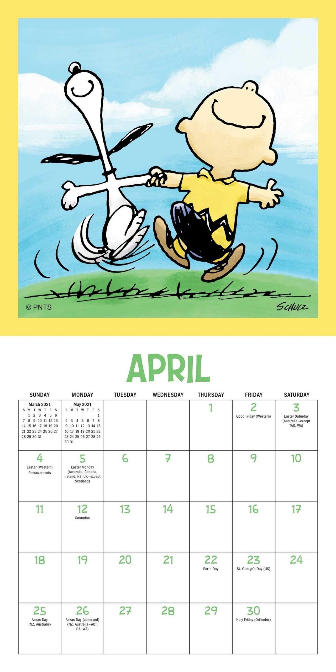 Peanuts 2021 Mini Wall Calendar - Book Summary & Video | Official Publisher Page | Simon & Schuster throughout Calendar 2021 Ziua Up Photo