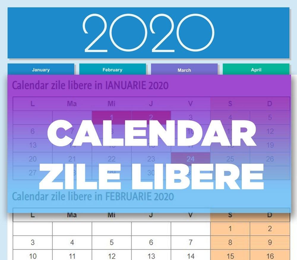 Pick Calendar Zile Lucratoare 2020 | Calendar Printables Free Blank for Calendar 2021 Cu Zile Legale
