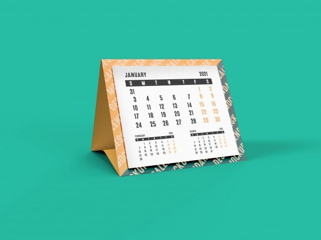 Premium Psd | 3D Mockup Of 2021 Pyramid Desk Calendar with regard to Church Calendar 2021 Psd
