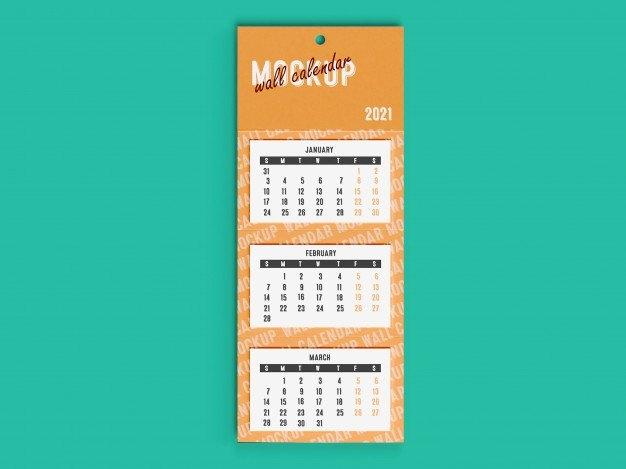 Premium Psd   3D Mockup Of 2021 Wall Desk Calendar within 2021 Myanmar Calendar Psd Free
