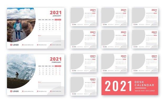 Premium Psd   Desk Calendar 2021 Print Ready Template for 2021 Table Calendar Templates For Illustrator