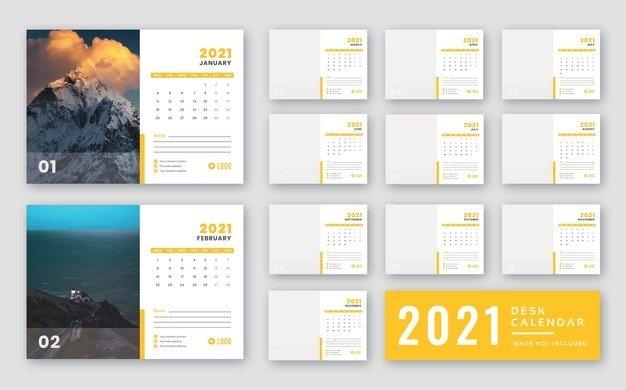 Premium Psd   Desk Calendar 2021 Print Ready Template with regard to 2021 Myanmar Calendar Psd Free