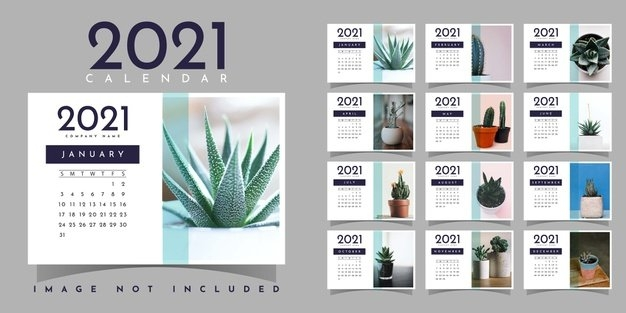 Premium Vector   Calendar 2021 Illustration Template Design inside Calendar 2021 Design In Illustrator