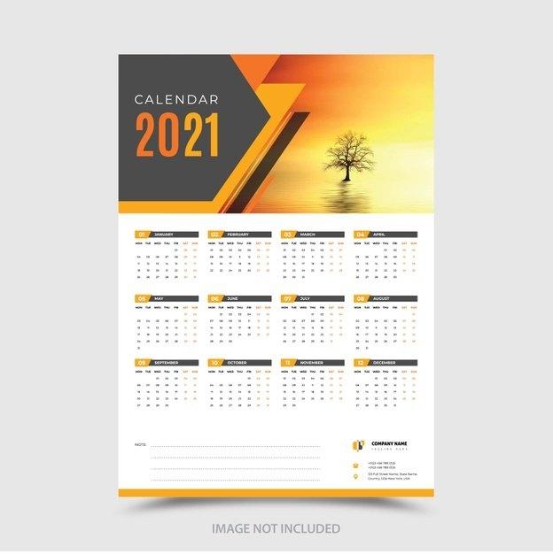 Premium Vector | Stylish 2021 Modern Calendar Design Template throughout Ppt Calendar Template 2021