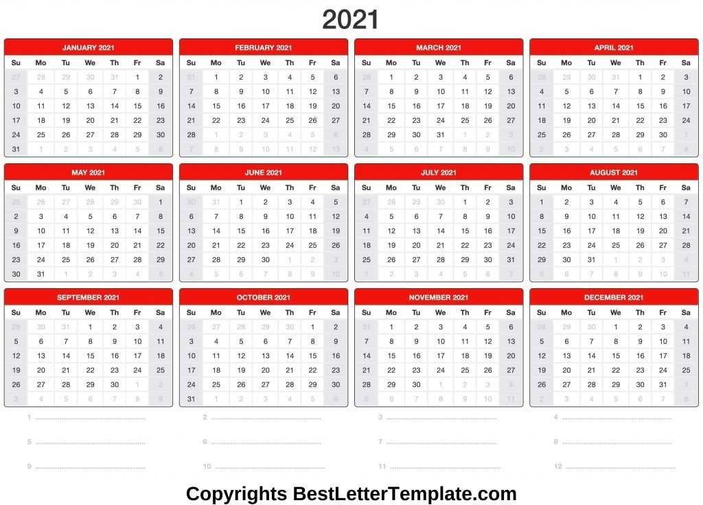 Printable 2021 Calendar Template In Pdf Word Excel - Calendar Template 2021 pertaining to Print Calendar 2021 In Excel Photo