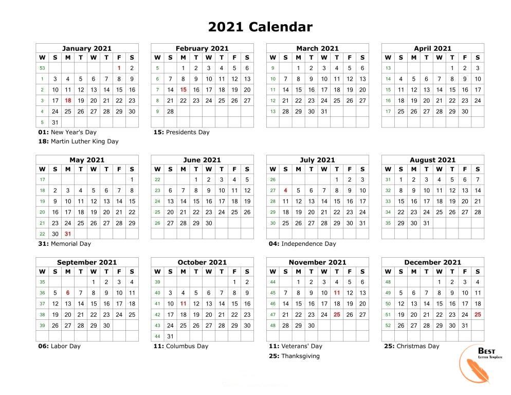 Printable 2021 Calendar Template In Pdf, Word & Excel within 2021 Printable Depo Calendar Photo